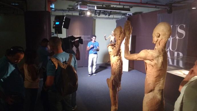 Bastidores Corpo Humano (Foto: TV Bahia)