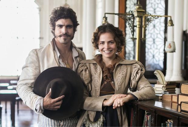 Caio Castro e Leticia Colin dão vida a Dom Pedro e Leopoldina na novela Novo Mundo (Foto: Globo/Raquel Cunha)