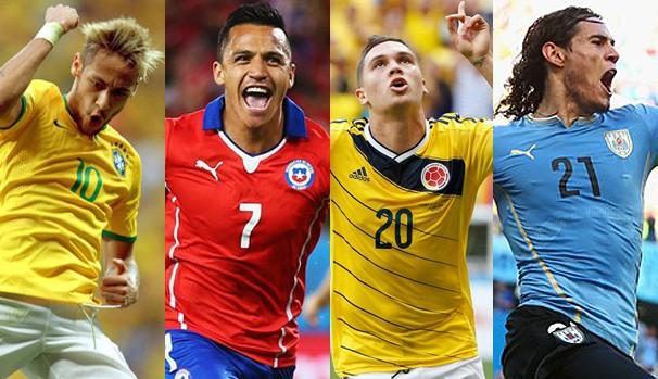 As seleções que se enfrentam no sábado, dia 28, pelas oitavas de final (Foto: Divulgação FIFA / Getty Images)