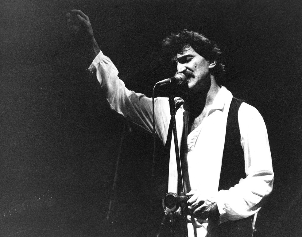 Belchior, durante show em São Paulo em 1988 (Foto: Ana Cristina leme/AE )