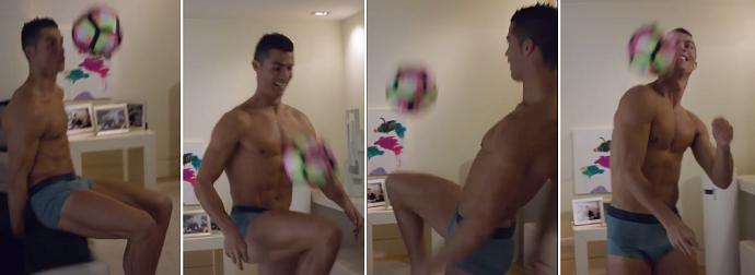BLOG: Cristiano Ronaldo faz embaixadinhas de cueca em desafio a Dwyane Wade