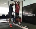 Diego Souza aparece no CT do Sport; Leandro Pereira também se apresenta