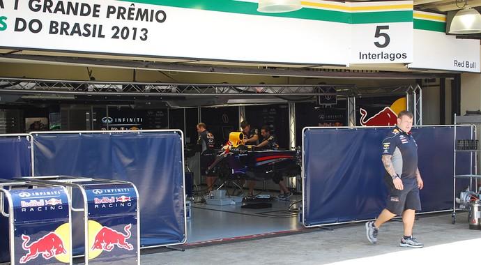 preparativos boxes Fórmula 1 em Interlagos (Foto: Marcos Guerra)