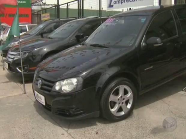 Venda de veículos seminovos cai 11% em Campinas (Foto: Reprodução/ EPTV)