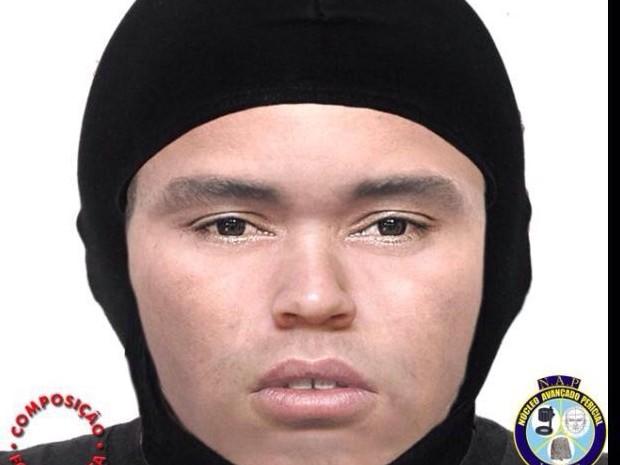 Retrato falado de um dos suspeitos de tentar matar o presidente da Câmara de Vereadores de Santa Maria do Cambucá (Foto: Divulgação/Polícia Civil)