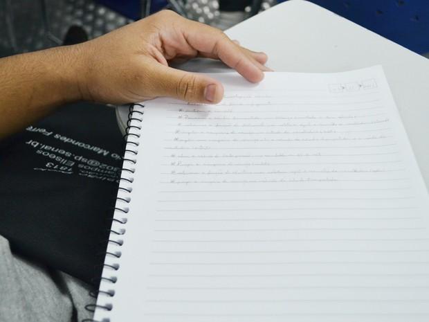 Em todo o estado de São Paulo, 88 internos da Fundação Casa prestarão Enem no final de semana (Foto: Adriano Oliveira/G1)