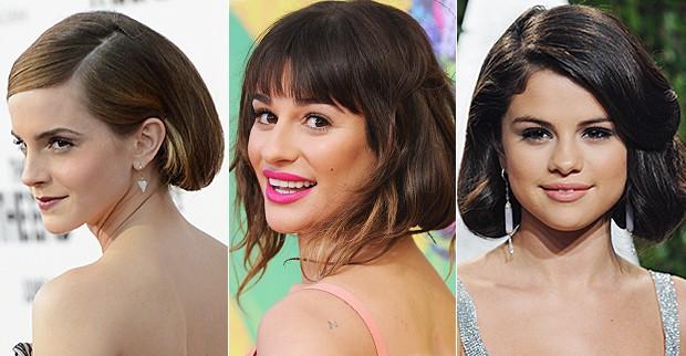 Falso Curto - Emma Watson, Lea Michele e Selena Gomez (Foto: EGO)