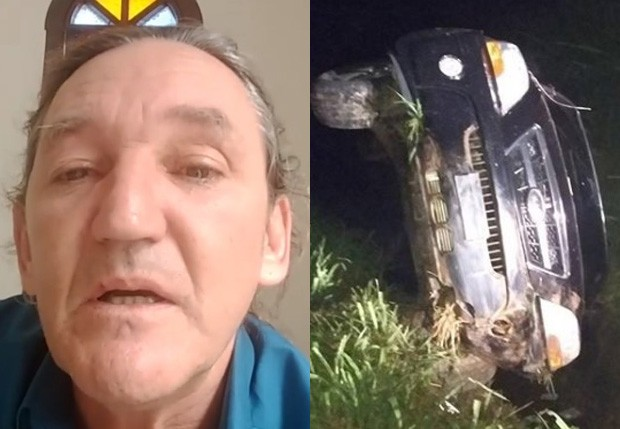 Marquito se emociona após acidente de carro (Foto: Reprodução/Instagram)