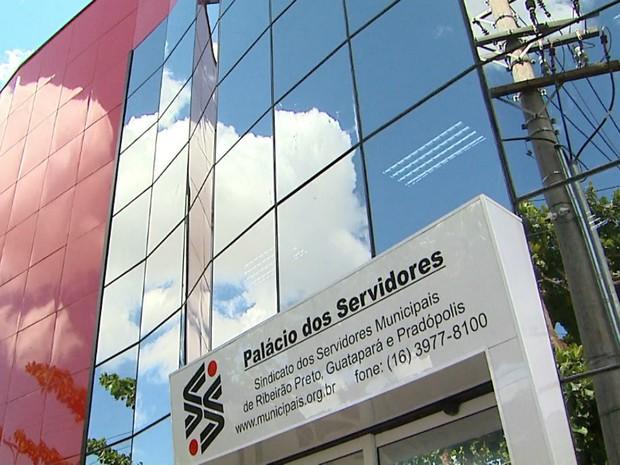 Sede do Sindicato dos Servidores Municipais de Ribeirão Preto (Foto: Reprodução/EPTV)