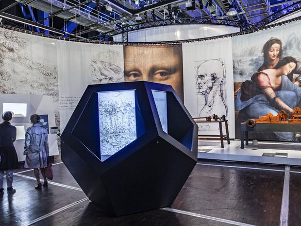 Exposição traz à Avenida Paulista arquivos reproduzidos a partir de desenhos de Leonardo da Vinci (Foto: Divulgação/Centro Cultural Fiesp - Ruth Cardoso)