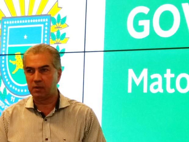 Governador Reinaldo Azambuja anunciou que Mato Grosso do Sul também terá sua lei de controle dos gastos públicos (Foto: Anderson Viegas/G1 MS)