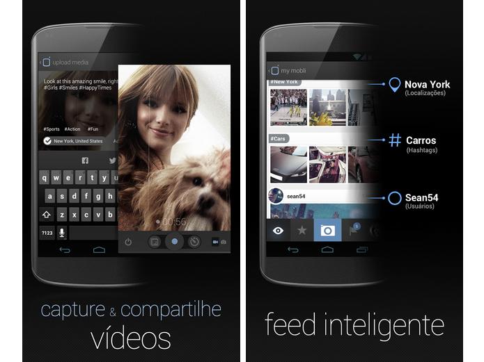 Mobli é uma rede social que permite tanto o compartilhamento de fotos quanto de vídeos (Foto: Divulgação)
