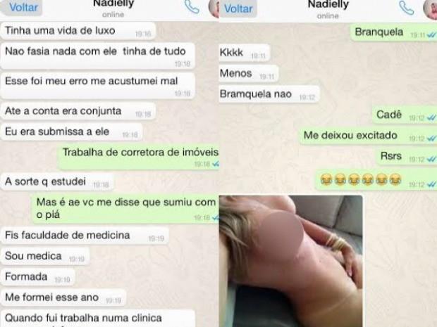 Continuidade das conversas entre suspeita e investigador (Foto: Divulgação/Polícia Civil)