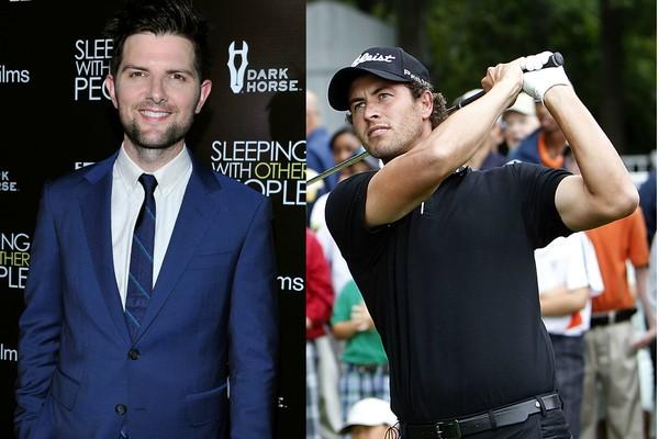 O ator Adam Scott e o jogador de golfe Adam Scott (Foto: Getty Images)