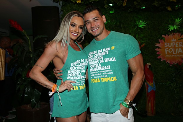 Juju Salimeni e Felipe Franco (Foto: Celso Tavares / EGO)