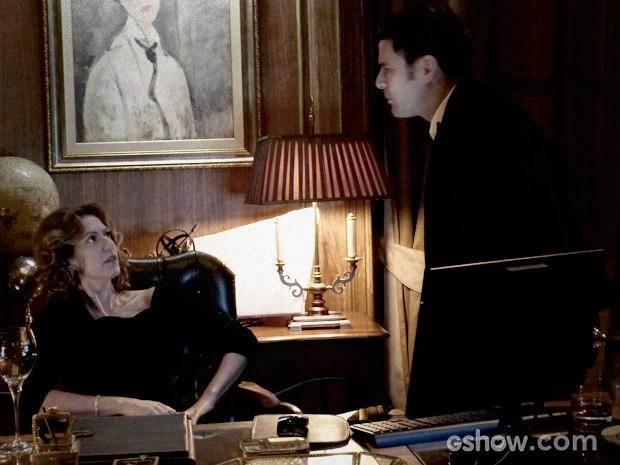 Bruno pede a confiança de Angela (Foto: O Rebu / TV Globo)