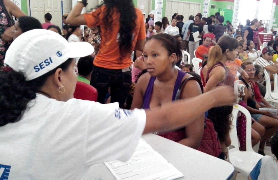 Diversos serviços foram oferecidos na Ação Global, em Tarauacá-AC (Foto: Thiago Cabral/ TV Acre)