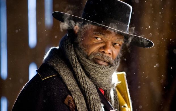 Samuel L. Jackson em cena de 'Os 8 odiados', do diretor Quentin Tarantino (Foto: Divulgação)