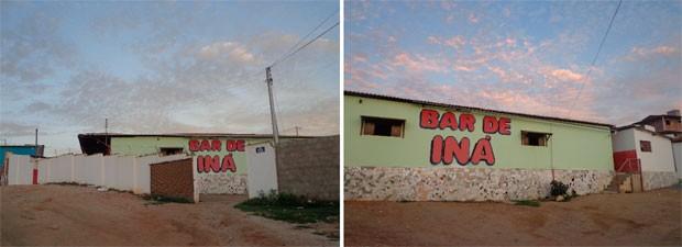 Segundo a PM, Bar de Iná funciona há 18 anos no mesmo local e nunca havia sido assaltado (Foto: Jaime Júnior/ Soldado da PM)