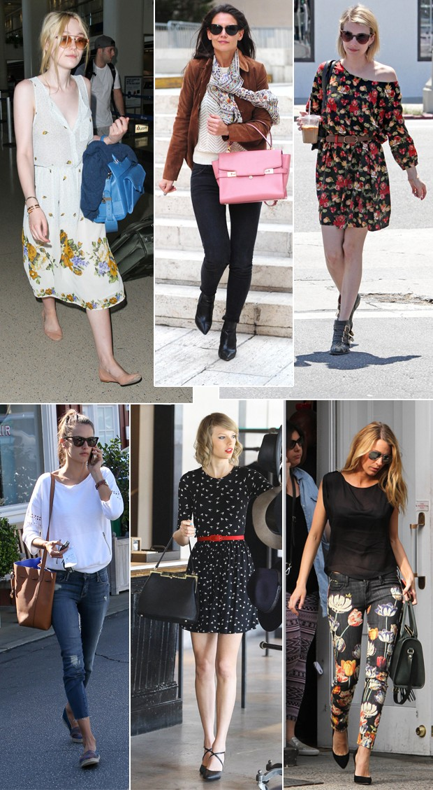 Dakota Fanning, Mila Kunis, Emma Roberts, Alessandra Ambrosio, Taylor Swift e Blake Lively (Foto: Getty Images e Grosby Group)