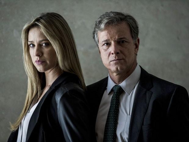 Dias e Vera vão ter que se dedicar à investigação e esquecer problemas do passado (Foto: Estevam Avellar/TV Globo)
