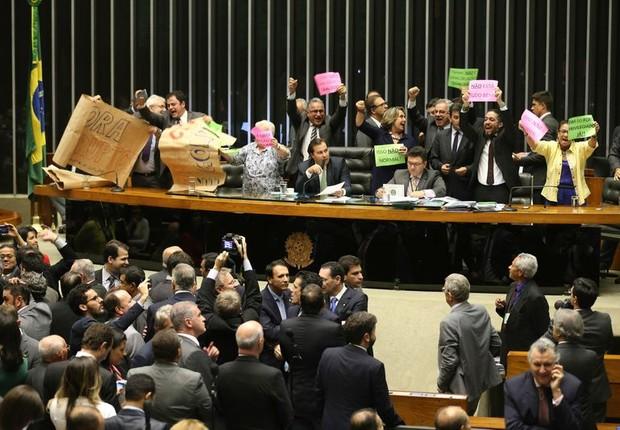 O plenário da Câmara rejeitou urgência para proposta de reforma trabalhista (Foto: Fabio Rodrigues Pozzebom/Agência Brasil)