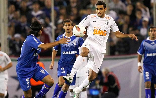 Alan Kardec, Velez x Santos (Foto: Agência AP)