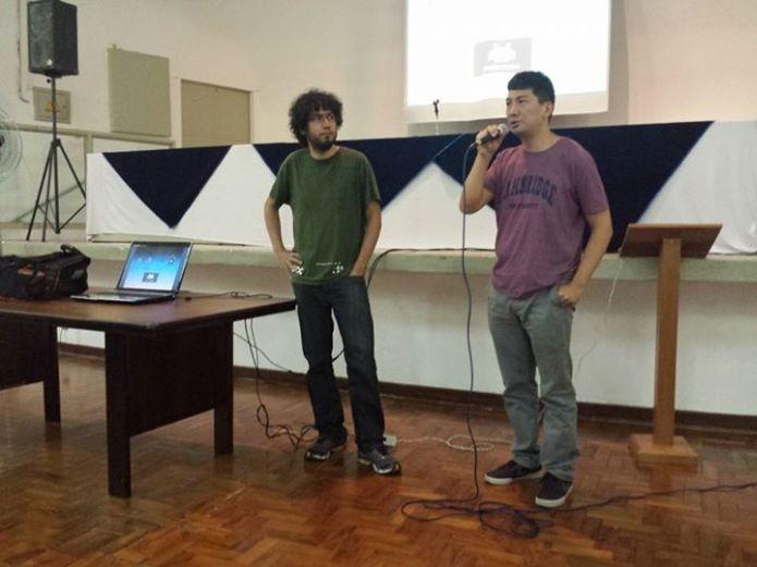O presidente da IGDA São Paulo, Reinaldo Ramos, e o vice, Luiz Sakuda (Foto: Arquivo Pessoal)