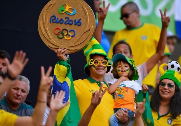 Torcida brasileira na Olimpíada (Foto: Wilson Dias/Agência Brasil)
