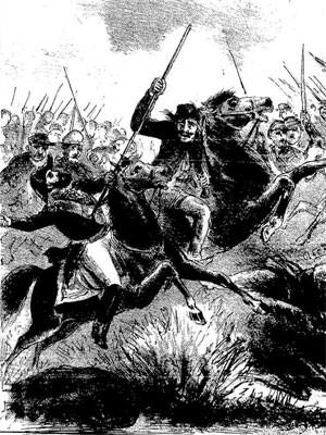 Feito de Chico Diabo foi tema de ilustração em revista publicada na época (Foto: Semana Illustrada, n. 485,  27/03/1870,)
