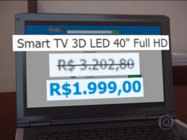 61d792b14c5 Preços aumentarem durante a semana nas lojas de Bauru (Foto  Reprodução TV  TEM