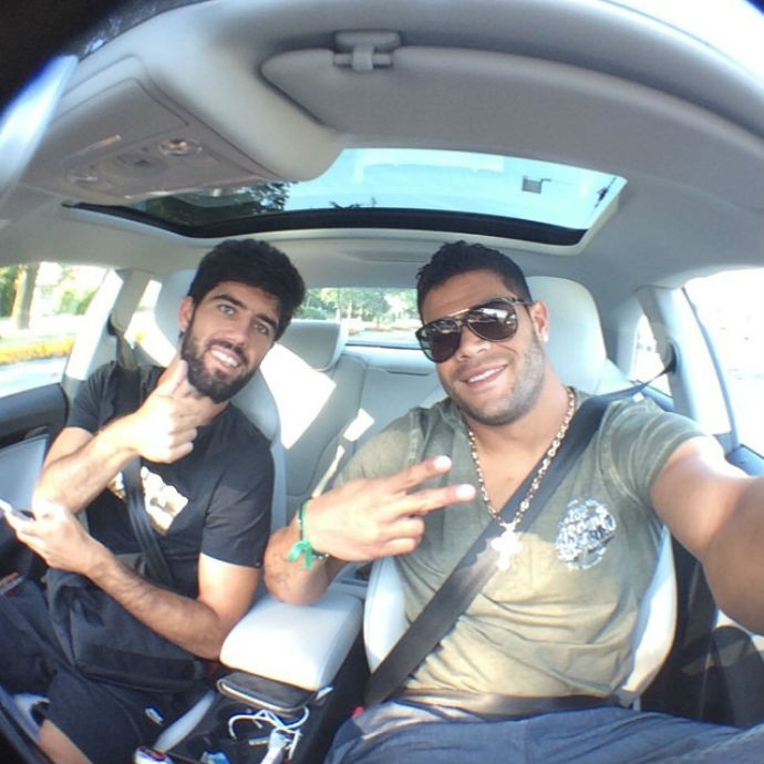Hulk posta foto a caminho de treino do Zenit (Foto: Reprodução/Instagram)