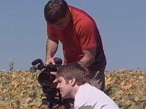 Docmentário é gravado em Santa Rosa, RS (Foto: Reprodução/RBS TV)