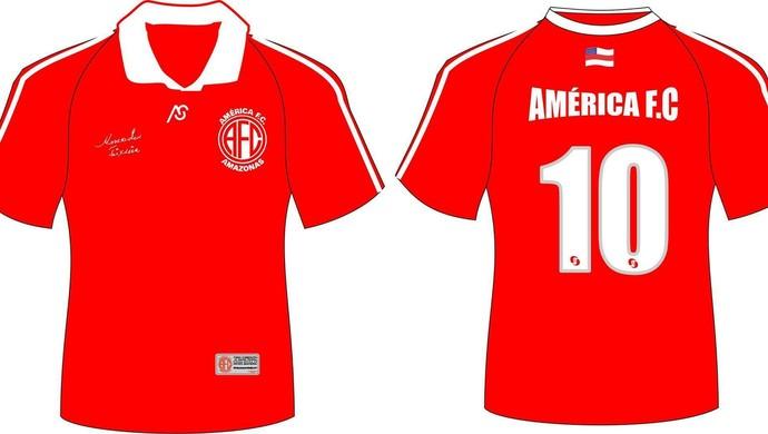 Camisas do América-AM serão colocadas à venda, em Manaus (Foto: Divulgação)