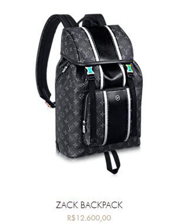 Valor da mochila usada por John Mayer (Foto: Reprodução/Site)