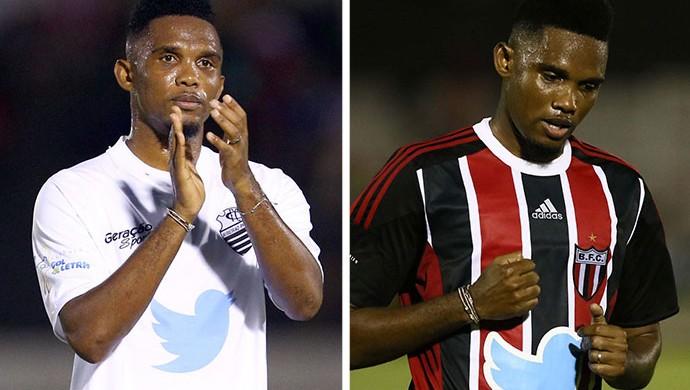Samuel Etoo Comercial e Botafogo-SP (Foto: Célio Messias / Agência Estado)