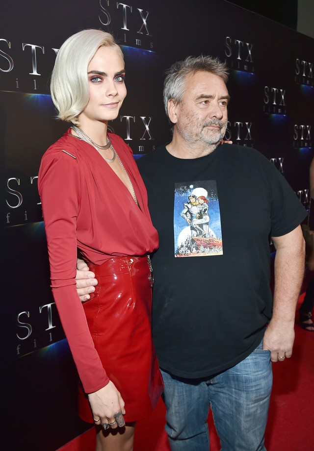 Cara Delevingne e Luc Besson (Foto: Getty Images)