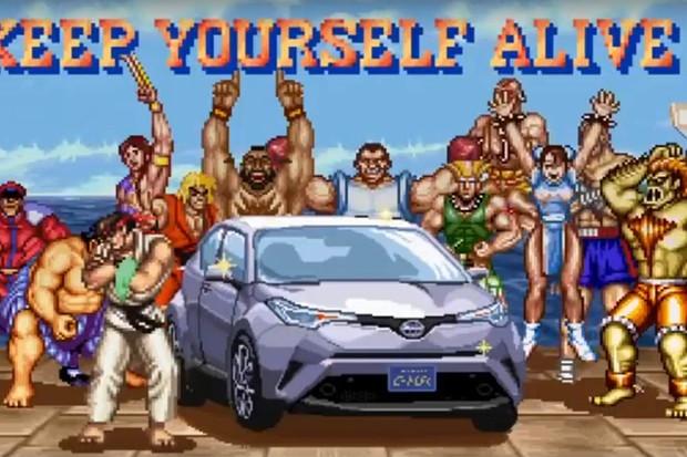 Toyota C-HR luta em Street Fighter II (Foto: Reprodução)