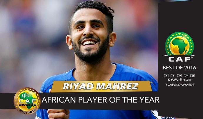 Mahrez, melhor jogador africano (Foto: Reprodução / Twitter)