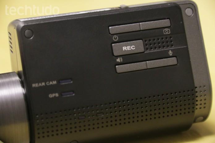 A câmera Thinkware FXD900 tem resolução Full HD (Foto: Lucas Mendes/TechTudo)
