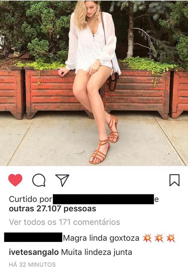 Sasha Meneghel é elogiada por Ivete Sangalo (Foto: Reprodução/Instagram)