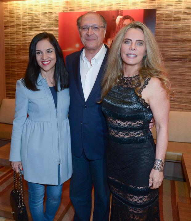 Lu e Geraldo Alckmin e Bruna Lombardi (Foto: Francisco Cepeda/AgNews)