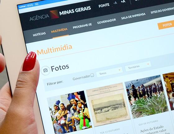 O novo portal da Agência Minas Gerais excluiu todas as informações anteriores a janeiro (Foto: Divulgação)