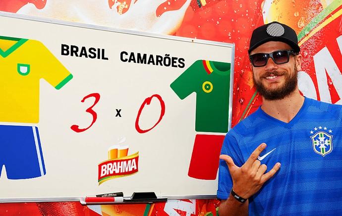 rodrigo hilbert palpite  Brasil x Camarões (Foto: Divulgação)