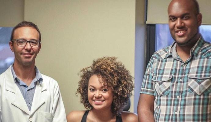 Doutor Araken, Agnes Jamille e o preparador vocal Bruno Oliveira (Foto: Arquivo Pessoal)