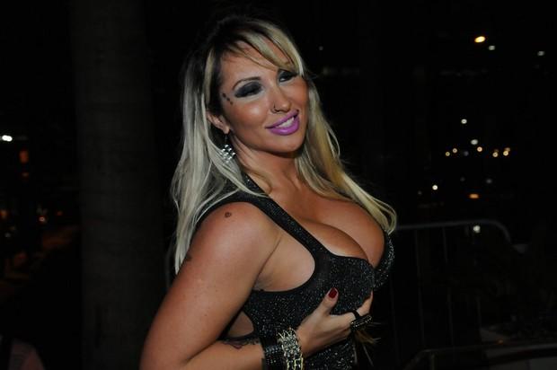 Sabrina Boing Boing em festa em São Paulo (Foto: Francisco Cepeda/ Ag. News)