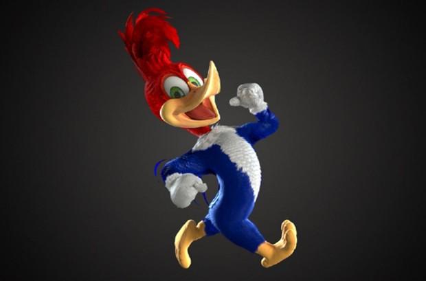 Pica-Pau em animação CGI para o filme que está sendo feito sobre o personagem (Foto: Divulgação Universal)