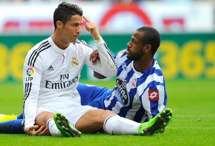 Cristiano ronaldo, La Coruña X Real Madrid (Foto: Agência AFP )