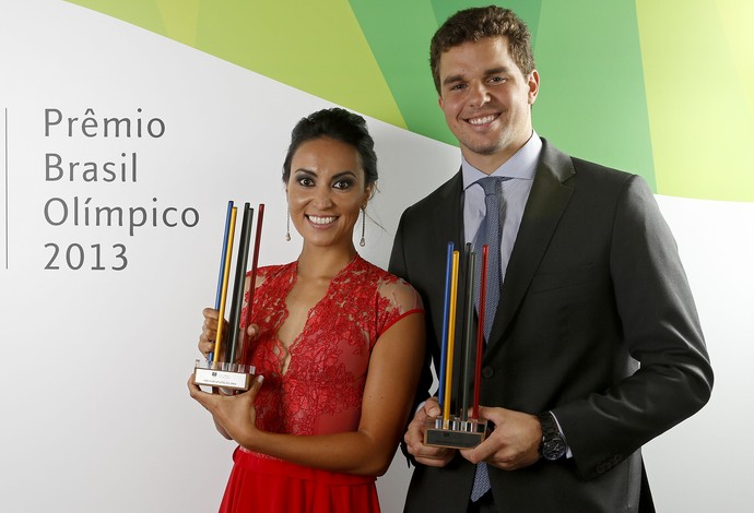 Poliana Okimoto Jorge Zarif prêmio brasil olímpico (Foto: Wander Roberto/Inovafoto/COB)