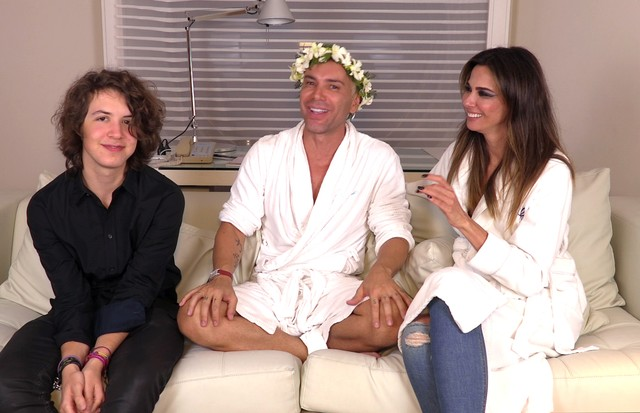 Matheus Mazzafera, Luciana Gimenez e Lucas Jagger (Foto: reprodução)